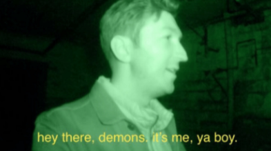 """A photo that says """"hey there demons, it's me, ya boy."""""""